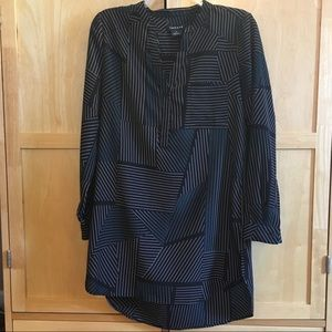 Nordstrom Trouvé Striped Long Sleeve Tunic Top XS